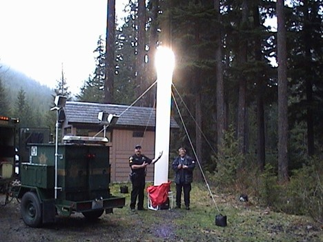Averting Disaster with Portable Inflatable Lights
